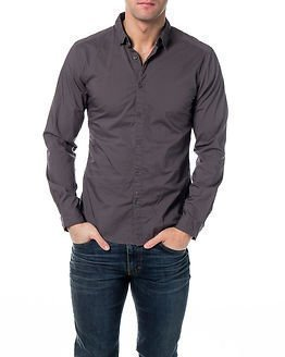 edc by Esprit Solid Shirt Grey