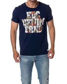 edc by Esprit Tropical T-Shirt Dark Blue