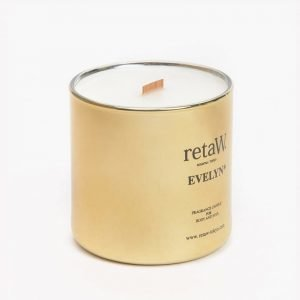 retaW Fragrance Candle Evelyn Gold